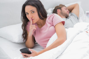 Woman Cheating On Phone